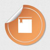 Buchsymbol web — Stockvektor