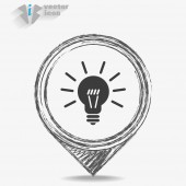 Black lamp icon — Stock Vector