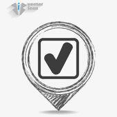 Check web icon — Stock Vector