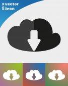 Downloads de arquivos de nuvem — Vetor de Stock