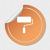 Paint roller vector icon — Stock Vector