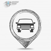 Car Web icon — Vector de stock