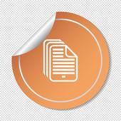 File web icon — Stock Vector