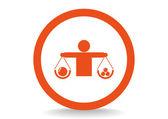 Balance, web icon. — Stock Vector
