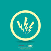 High voltage web icon — Stock Vector