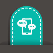 Sms on mobile phone — Stock Vector
