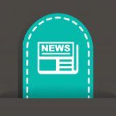 News web icon — Stock Vector