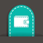 Wallet web icon — Stock Vector