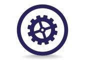 Konfigurowanie sieci ikona — Wektor stockowy