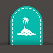 Exotic island web icon — 图库矢量图片