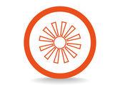 Icona web sole — Vettoriale Stock