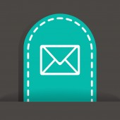 Email web icon. — Stock Vector