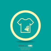 Dirty shirt icon — Stock Vector