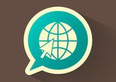 Earth web icon — Stock Vector