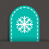Snowflake web icon — Stock Vector