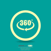 Rotation of 360 degrees — Stock Vector