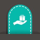 Gift web icon — Stock Vector
