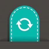Rotation arrows in a circle web icon — Stock Vector