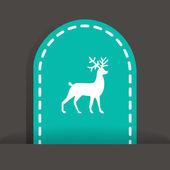 Christmas deer symbol — Stock Vector
