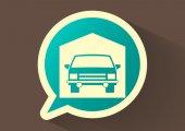 автомобильный веб-символ — Cтоковый вектор
