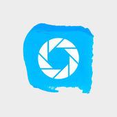 Objektiv-web-symbol. — Stockvektor