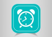 Clock Web icon. — Stock Vector