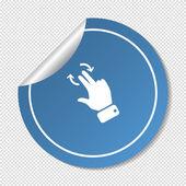 Touch operation web icon — Stok Vektör