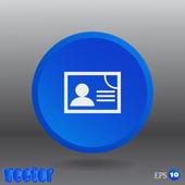 Document determining identity web icon — Stock Vector