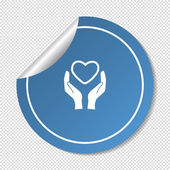 Charity web icon — Stock Vector