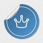 Crown VIP sign web icon — Stock Vector