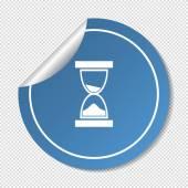 Ikona přesýpacích hodin webové — Stock vektor