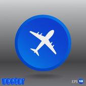 Aircraft Web icon — Stock Vector