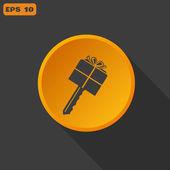 Gift Key icon — Stock Vector