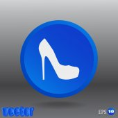 Female shoes, web icon. — Stok Vektör