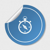 Stopwatch web icon — Stockvektor