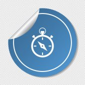Stopwatch web icon — Vector de stock