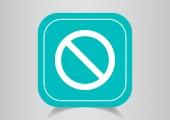 Icône de web signe interdiction — Vecteur
