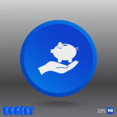 Piggybank web icon — Stock Vector