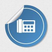 Fax, web icon. — Stock Vector