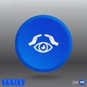 Eye in hands icon — Stock Vector