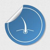 Icono de la web de pelo — Vector de stock