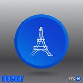 Eiffel Turm Web-Symbol — Stockvektor