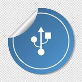 Port usb, web icon. — Stock Vector
