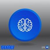 The human brain, web icon — Stock Vector
