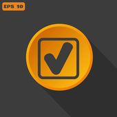 Check web icon — Stockvektor