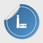 Factory web icon — Stock Vector
