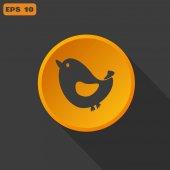 веб-символ птицы. — Cтоковый вектор