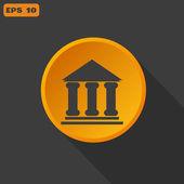 Bank web icon — Stock Vector