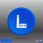 Fabrik-web-symbol — Stockvektor