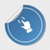 Touch operation spindelväv ikonen — Stockvektor